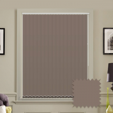 Unicolour Chocolate 5 inch Brown Vertical Blinds - made to measure